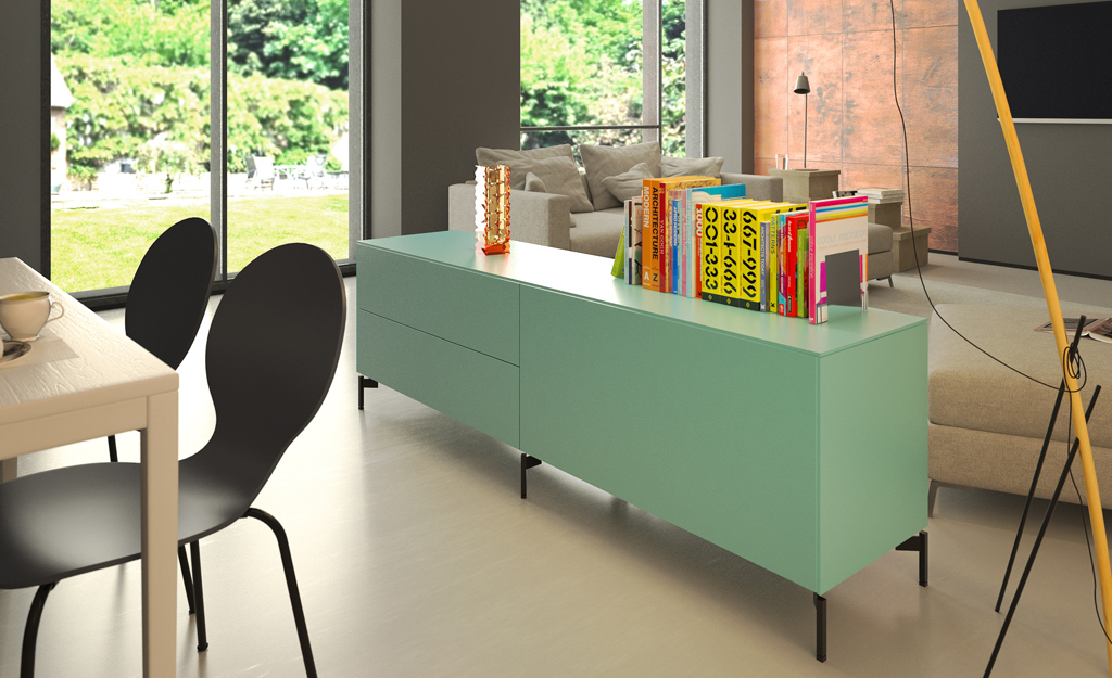 mobilier living sheer box idezio. Black Bedroom Furniture Sets. Home Design Ideas